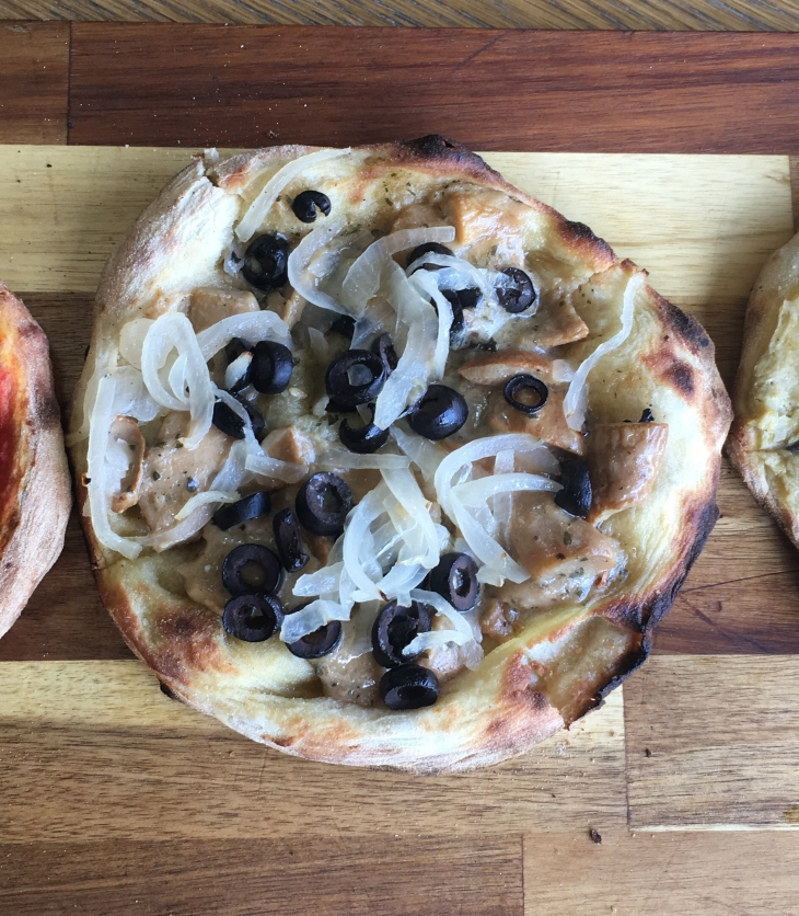 Vegan pizzas at Bbuona Pizza Bar