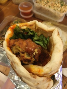 vegan pakora wrap from Street Food DelHi